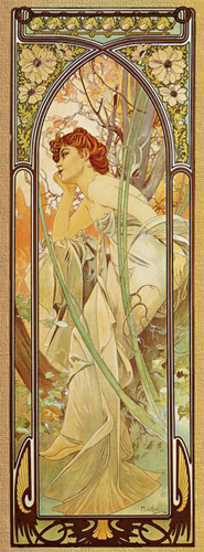 alphonse mucha evening
