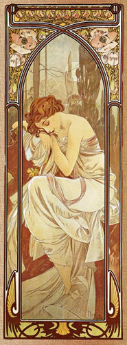 alphonse mucha night