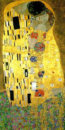 Gustav Klimt - The Kiss - Art Noveau Poster