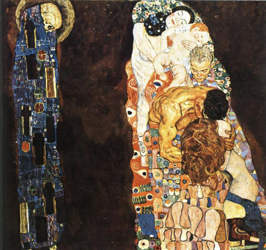 klimt gustav death and life